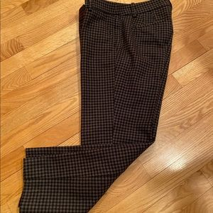 J Crew Factory Lined Wool Houndstooth Capris
